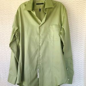 NWT Mens Cypress green long sleeve dress shirt